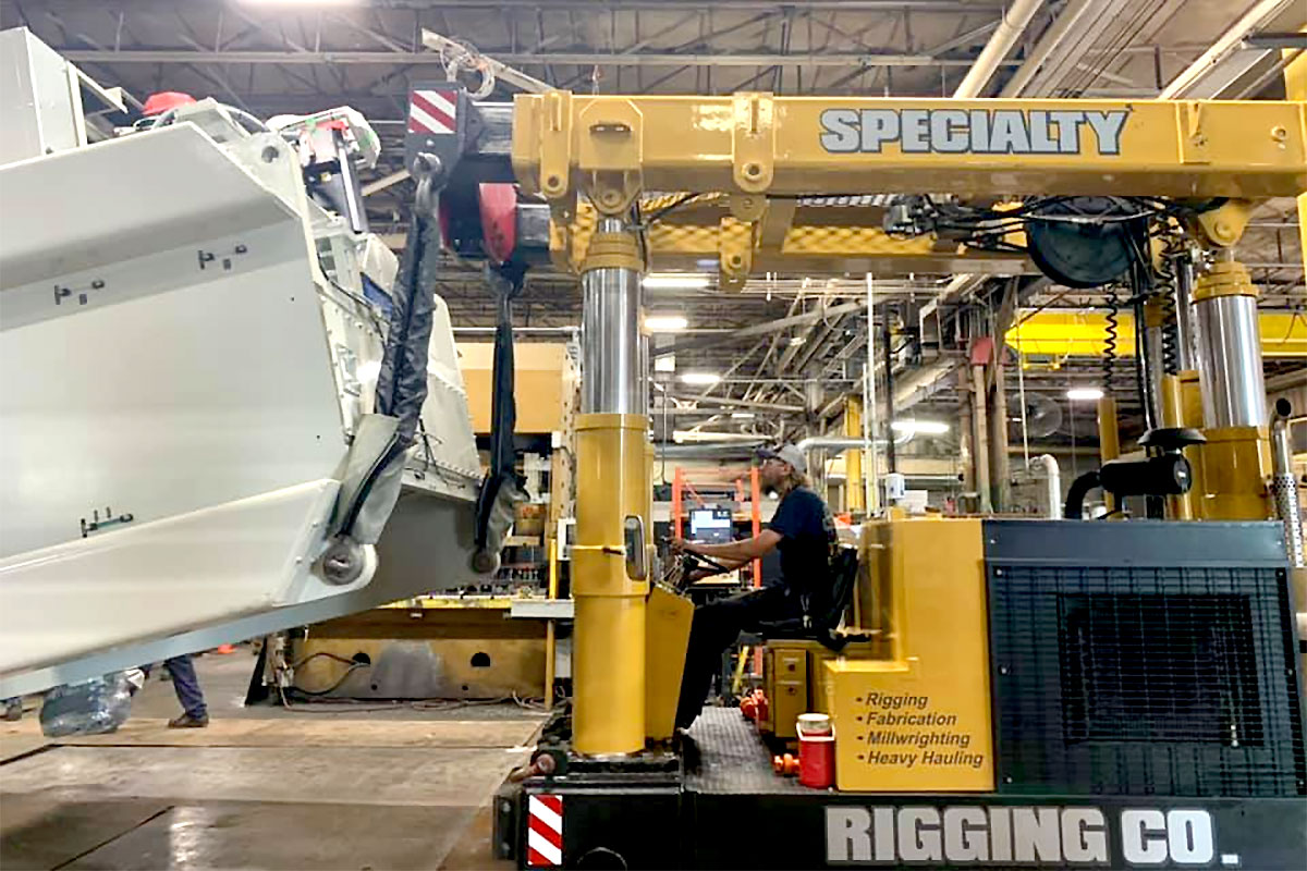 Relocating or Setting up a New Facility? Specialty Rigging Co. Does That